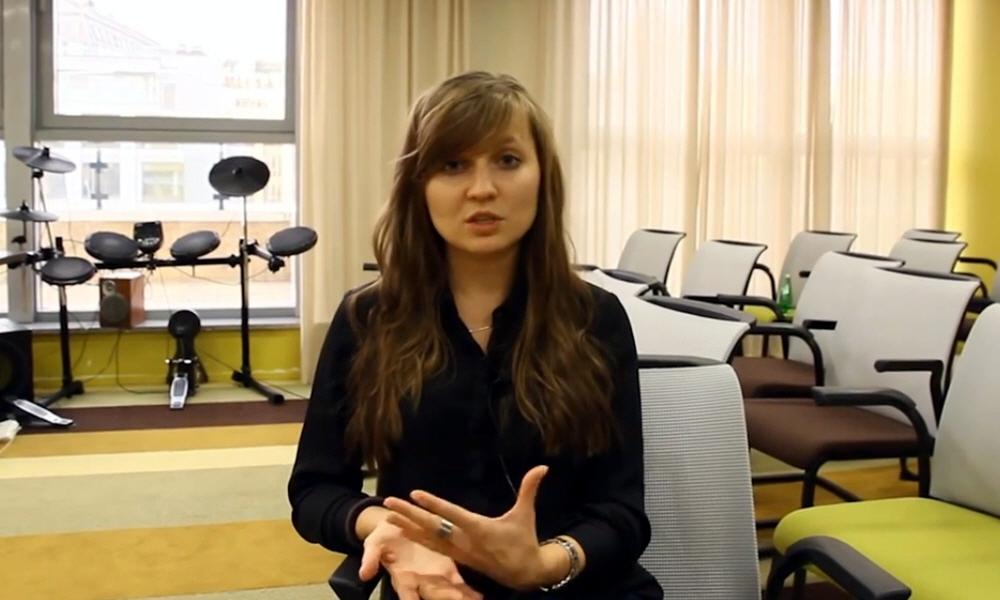 Анна Градиль в программе Intervista