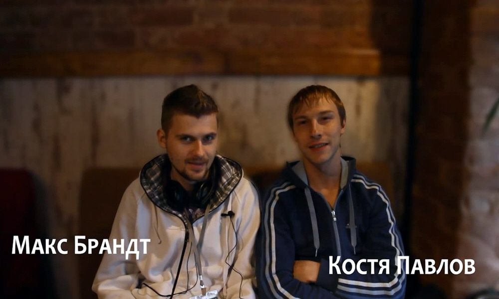 Константин Павлов и Максим Брандт в программе Intervista