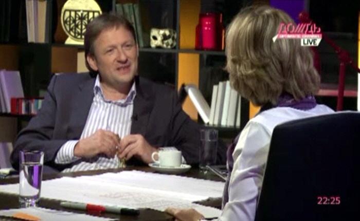 Марина Малыхина и Борис Титов на телеканале Дождь