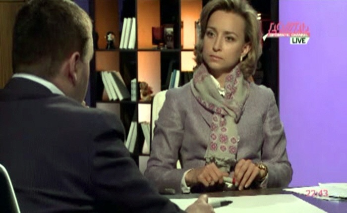 Марина Малыхина и Владимир Садовин на телеканале Дождь