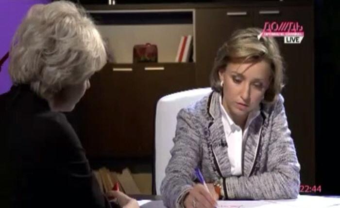 Марина Малыхина и Елена Петрова на телеканале Дождь