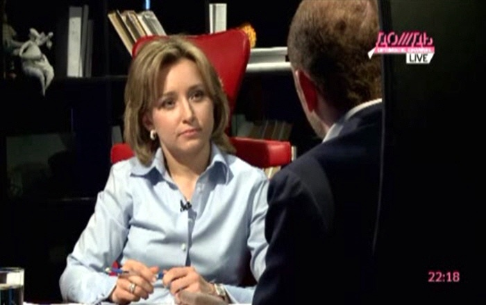 Марина Малыхина и Михаил Зельман на телеканале Дождь