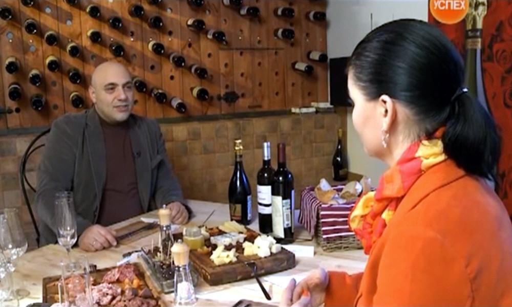 Джулио Дзомпи в передаче Моё Дело на телеканале Успех