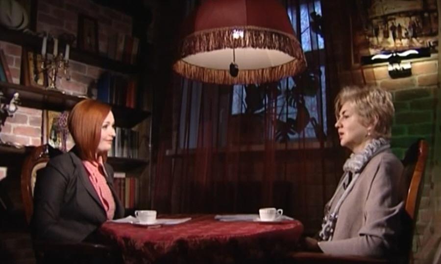 Жанна Мартынова в программе Напротив на телеканале МИР ТВ