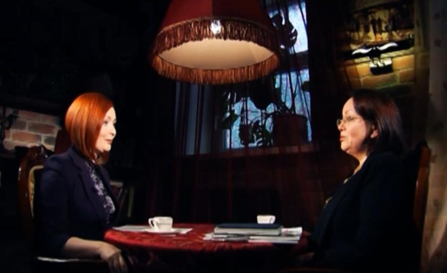 Марина Сапронова в программе Напротив на телеканале МИР ТВ