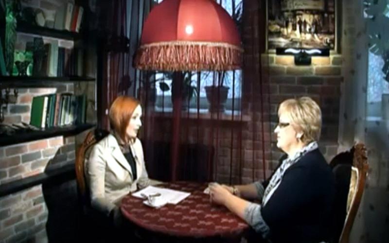 Наталья Половинкина в программе Напротив на телеканале МИР ТВ