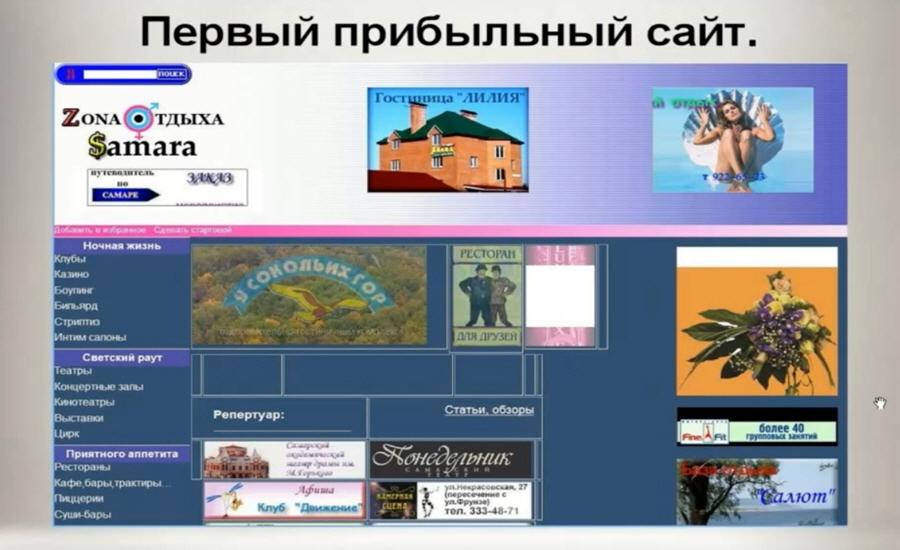 Онлайн-бизнес Валерий Стручин первый прибыльный сайт