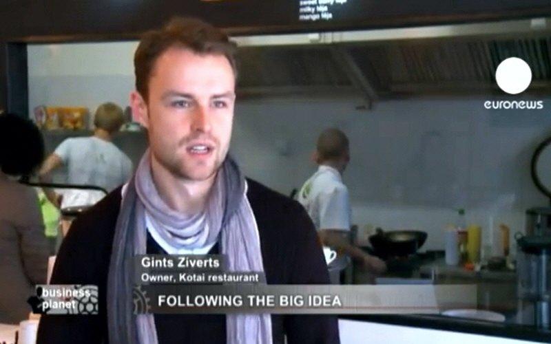 Гинтс Зивертс - владелец ресторана тайской кухни Kotai