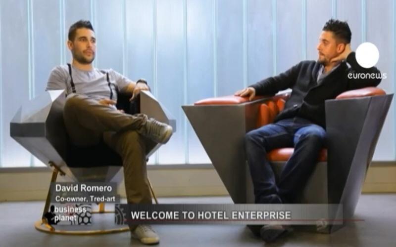 Давид Ромеро и Эрик Сегинот - дизайнеры основатели французской компании Tred-Art