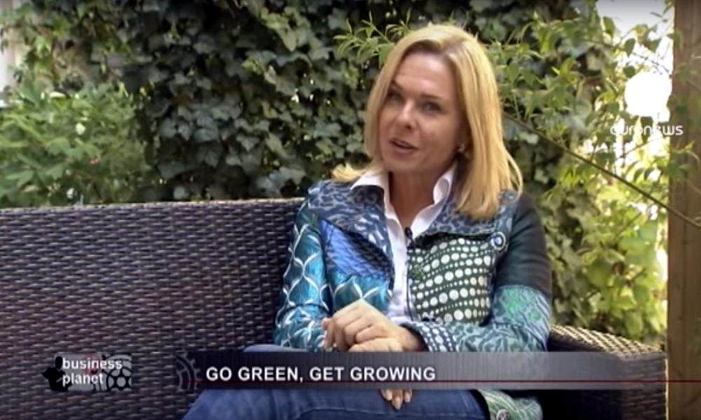 Микаэла Райтерер в программе Планета Бизнеса на телеканале Euronews