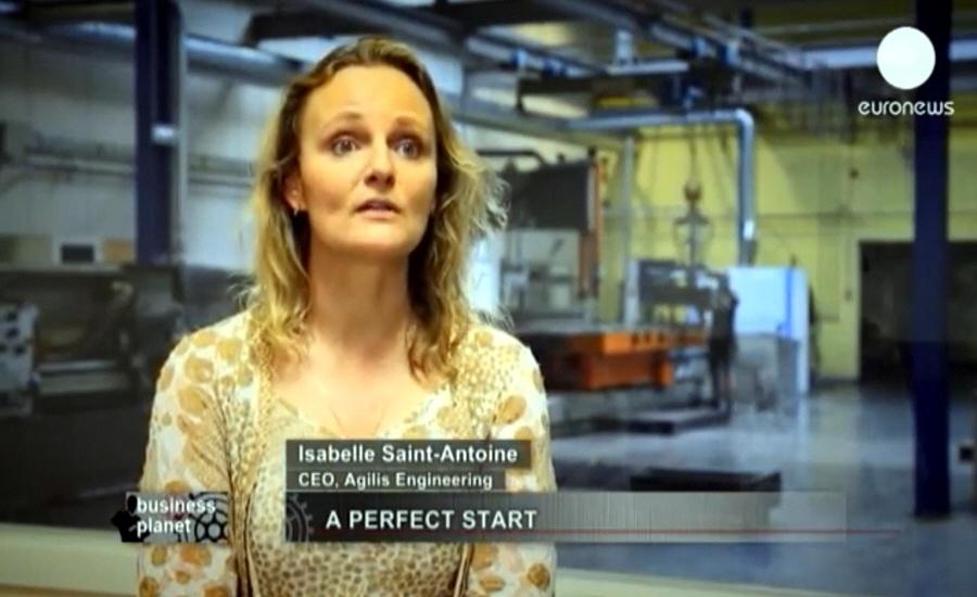 Изабель Сан-Антуан Isabelle Saint-Antoine - генеральный директор производственной компании Agilis Engineering