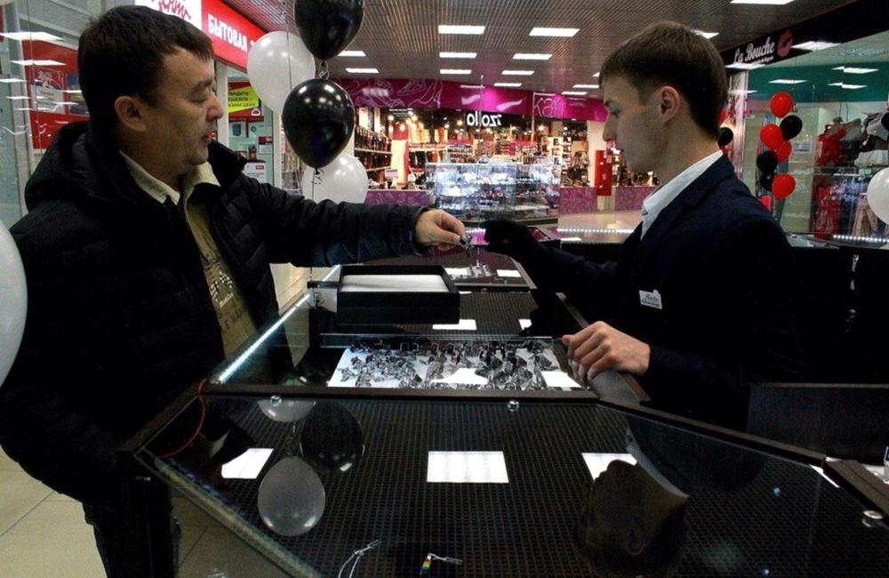 Открытие ювелирного магазина в торговом центре