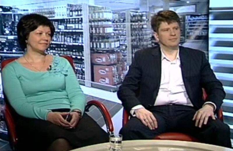 Александр Трындин и Людмила Егорова в программе Retail нашего времени на телеканале ПРО Бизнес