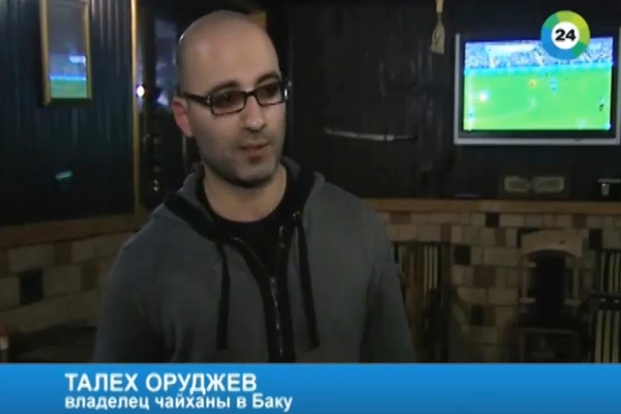 Талех Оруджев - владелец чайханы в Баку
