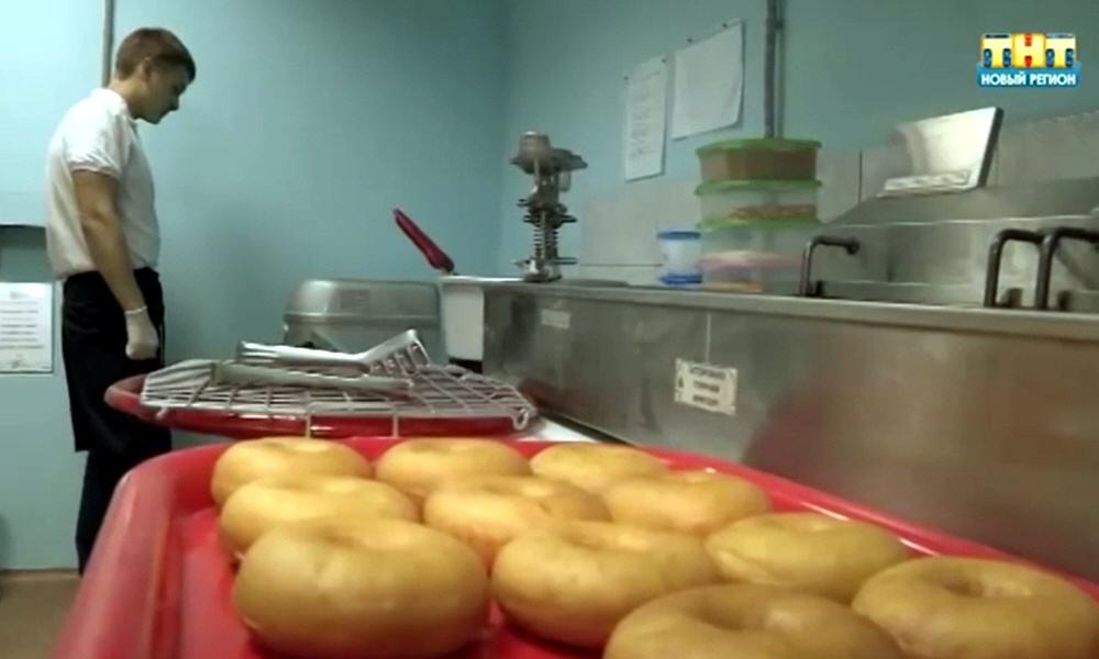 Производство американских пончиков