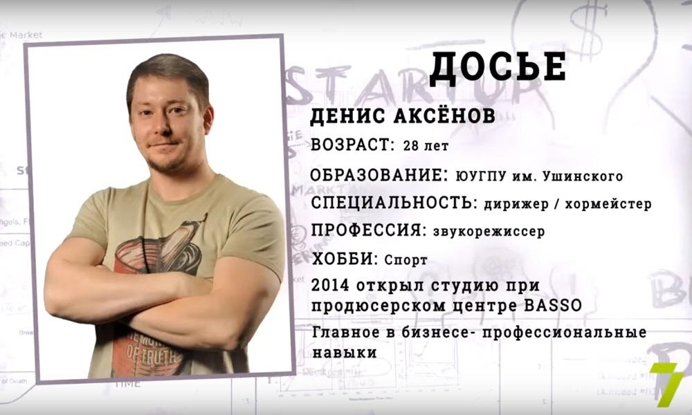 Денис Аксёнов - создатель студии звукозаписи