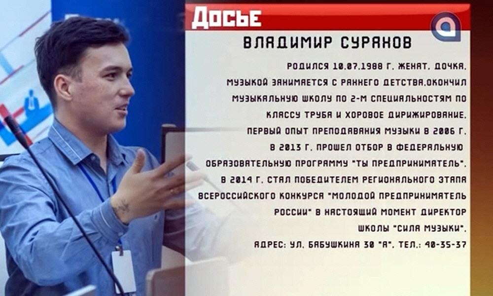 Владимир Суранов - основатель музыкальной школы Сила Музыки
