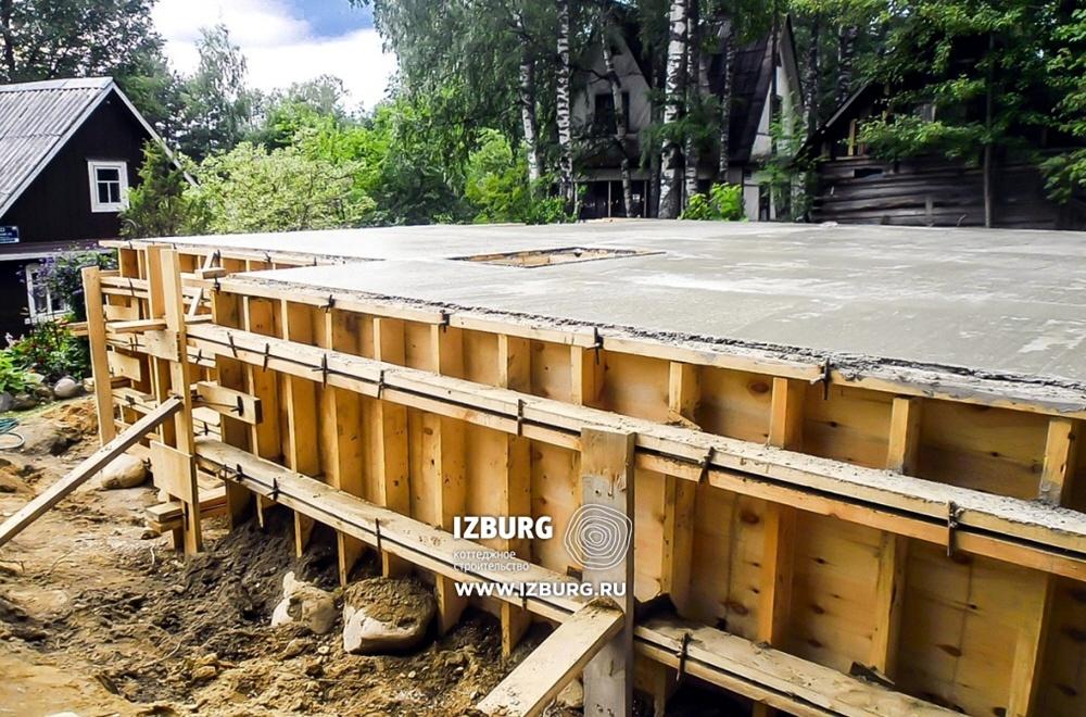 Возведение фундамента под каркасный дом