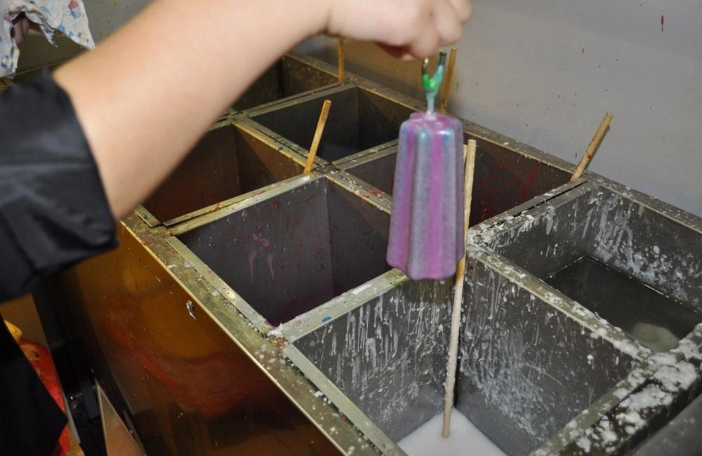 Производство резных свечей